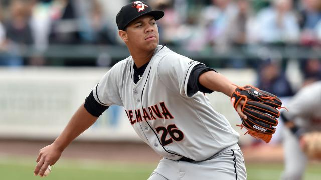 Shorebirds' Peralta Earns Orioles' Minor League Pitcher of the Month