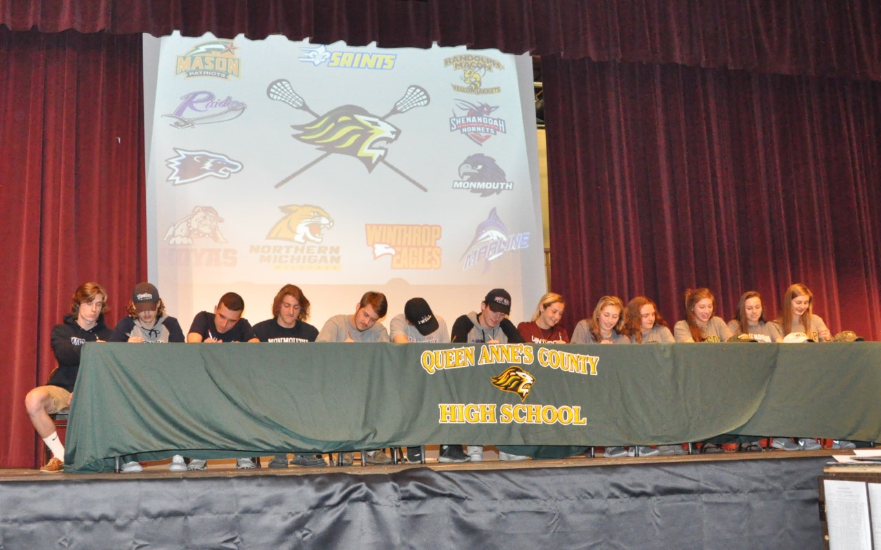 Queen Anne's County High Honors Lacrosse Signees