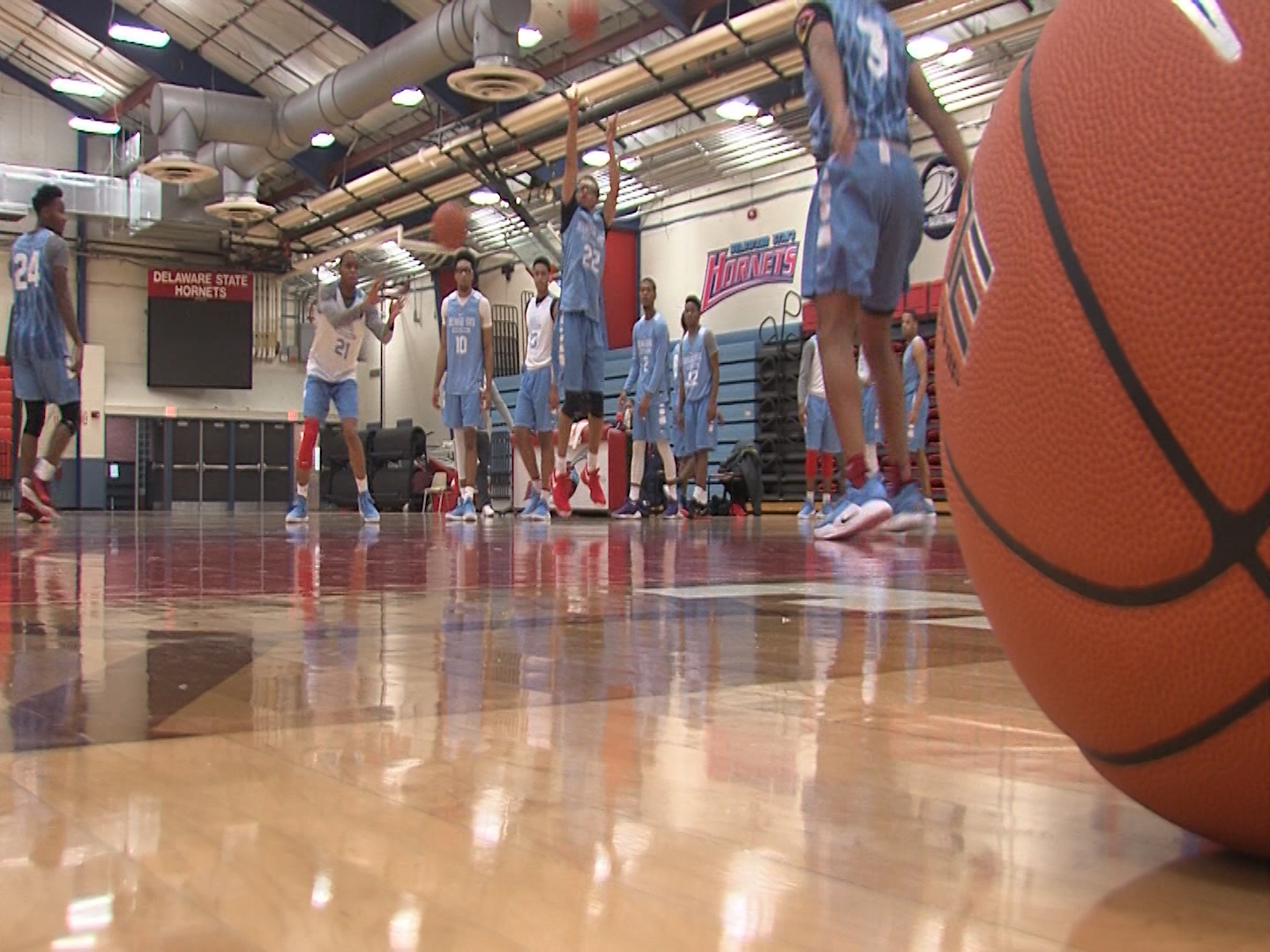 Delaware State University prepares for the upcoming basketball season