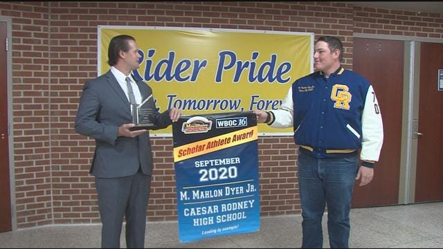 Mahlon Dyer Jr.– September 2020 Winner – WBOC Mountaire Scholar Athlete of the Month