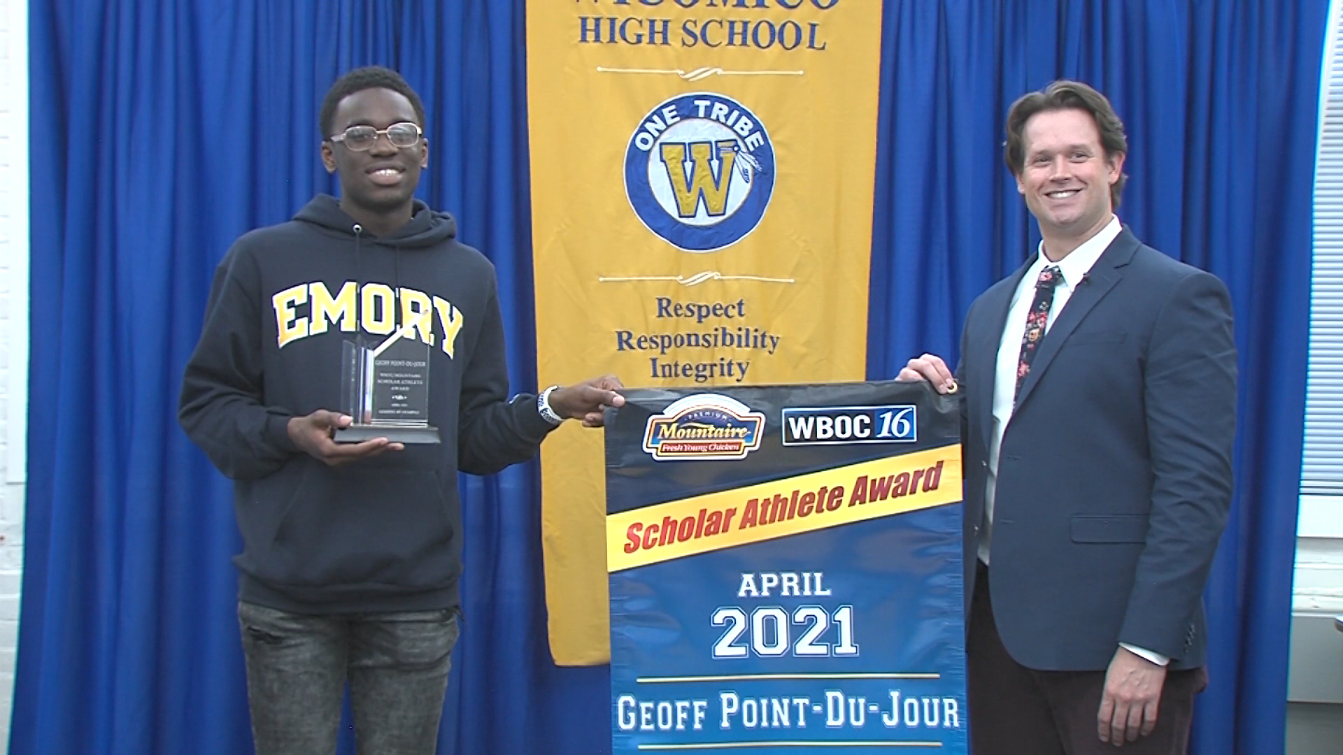 Geoff Point-Du-Jour – April 2021 Winner – WBOC Mountaire Scholar Athlete Of The Month
