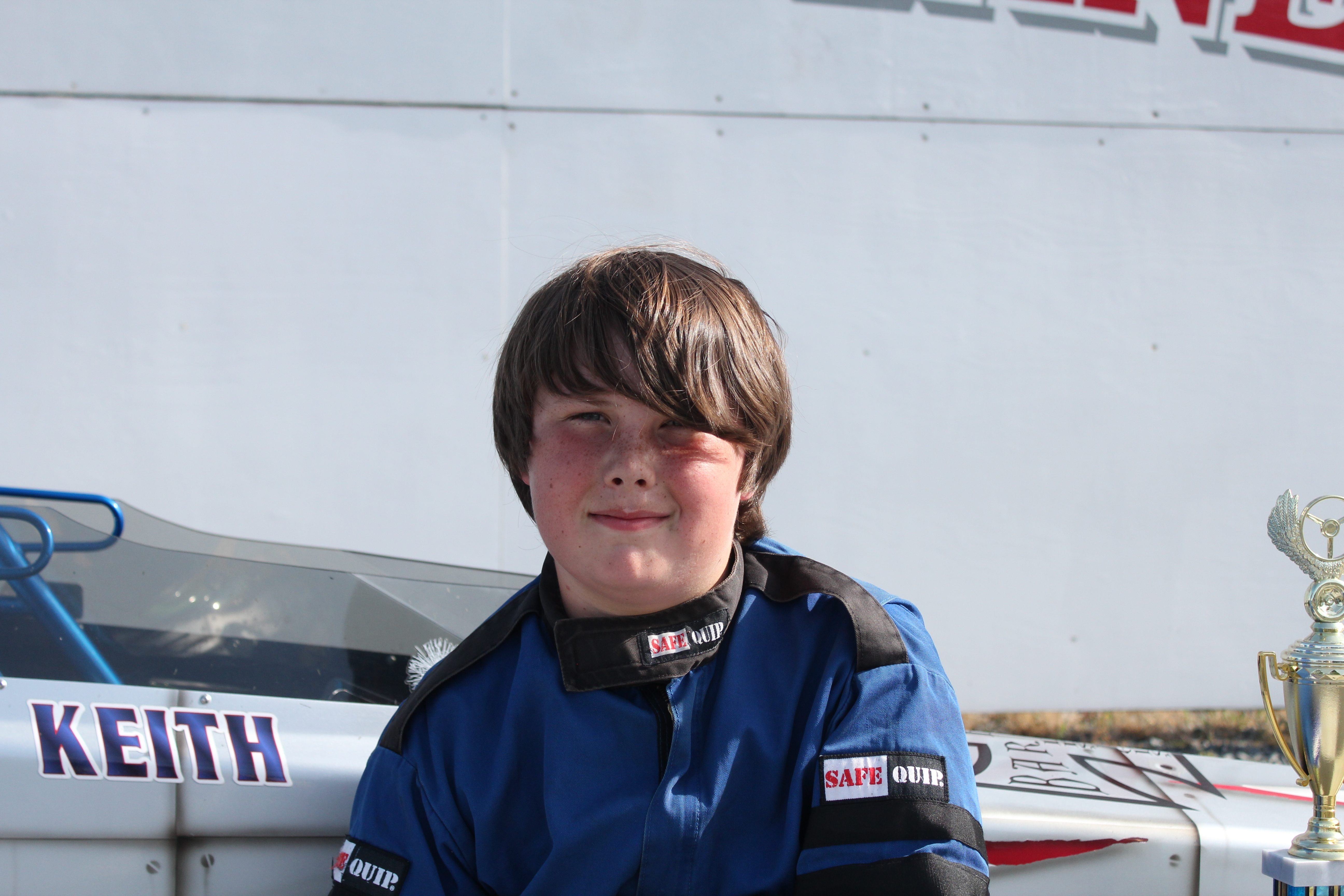 JR 1 DRAGSTER WINNER KEITH RIDDLE