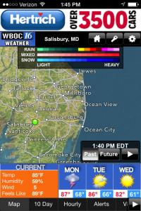 WBOC Weather App Map