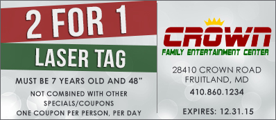 Crown Family Entertainment Center Coupon: 2 For 1 Laser Tag